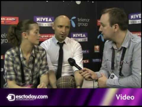 esctoday.com interview with Mr & Mrs Lithuania - Eurovision 2010