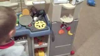 Little Tikes Inside Outside Cook N Grill Kitchen Youtube