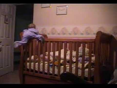 Baby Savannah Climbing Out Of Crib