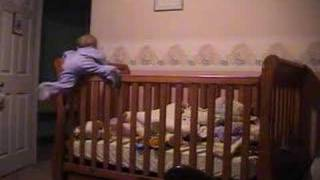 Baby Savannah Climbing Out Of Crib