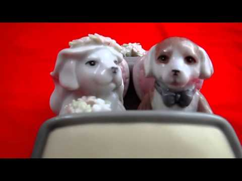 Puppy Love Music Box Just Married