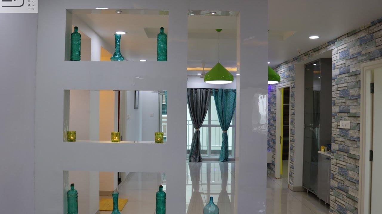 Enrich Interiors And Decors Aparna Sarovar Grande Living Dining Interior Design