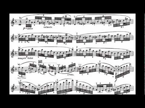 Ysaye Solo Violin Sonata No. 3 -- Ballede (with sheet music)