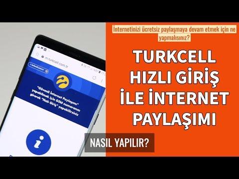 Turkcell Hızlı Giriş İnternet Paylaşımı Nasıl Yapılır?