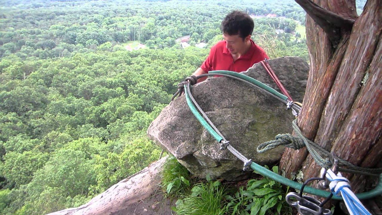 Art Of Rock Climbing Fun Rappel. Trapps Gunks Ny