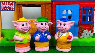 EL CUENTO DE LOS TRES CERDITOS Y EL LOBO -THE THREE LITTLE PIGS STORY- CON SONIDOS DE  MEGA BLOKS thumbnail