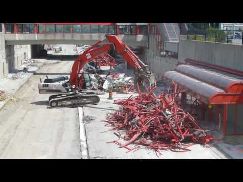 "OC Transpo - Tunney's Pasture Stn Demolition for LRT ""Confederation Line"" Conversion (Aug 09, 2016)"