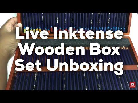 Live Derwent Inktense Wooden Box Unboxing