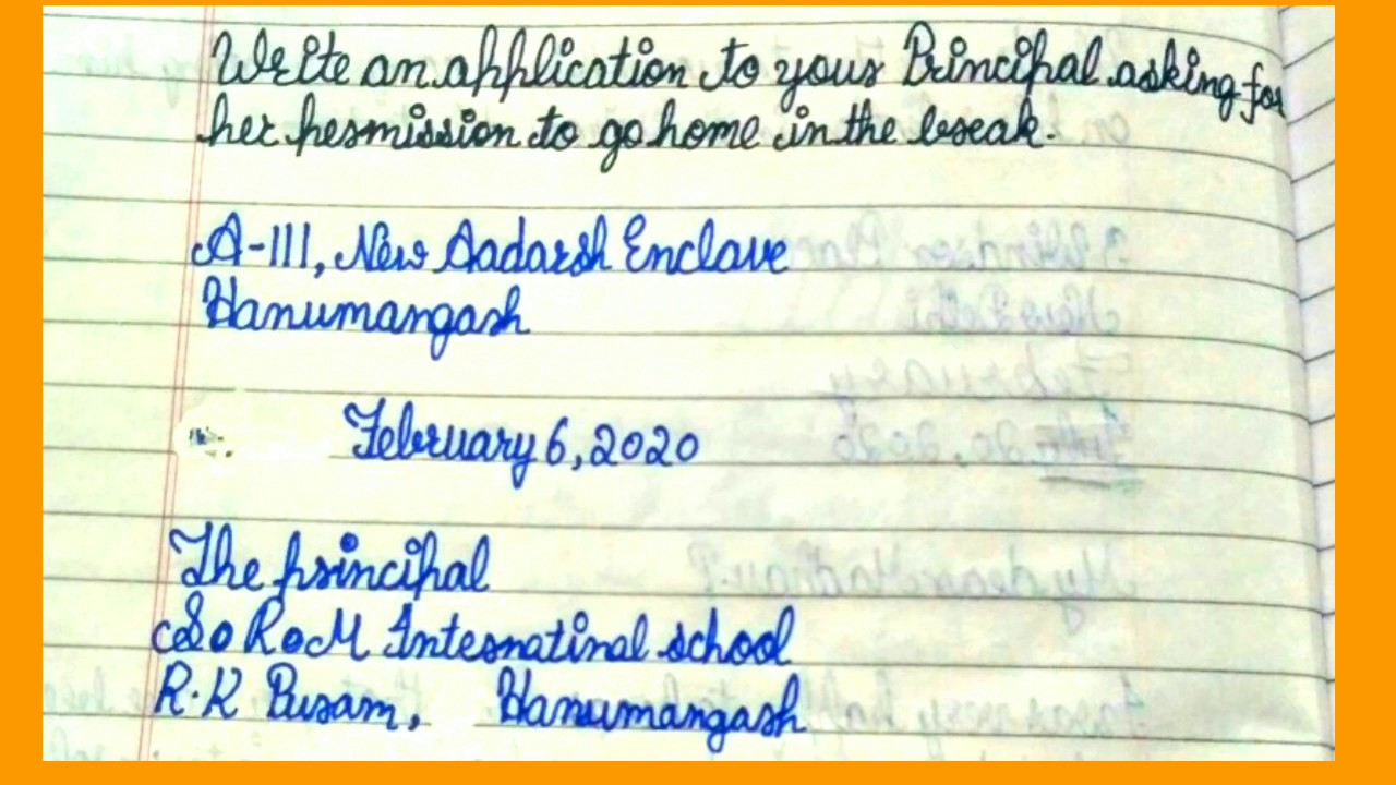 maxresdefault - Application To The Headmaster Seeking Permission For Admission