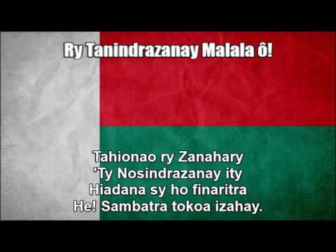 National Anthem of Madagascar (Ry Tanindrazanay Malala ô!) - Nightcore Style With Lyrics
