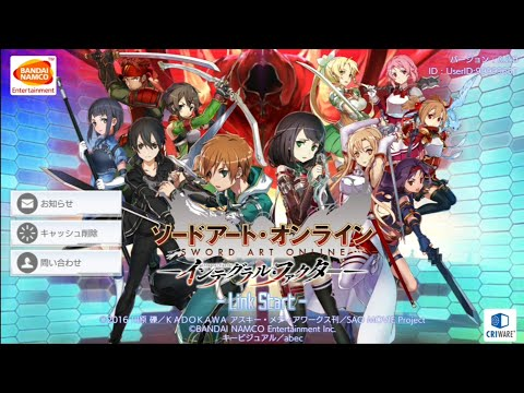 Sword Art Online Integral Factor CBT[ソードアート・オンライン インテグラル・ファクター] MMO Android Gameplay + Link Download