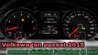 Comment rientialisé Service vidange d'huile moteur après l'entretien Volkswagen Passat, Skoda octav