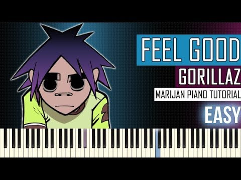 How To Play Gorillaz Feel Good Inc Piano Tutorial Easy