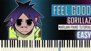 How To Play: Gorillaz - Feel Good Inc. | Piano Tutorial EASY
