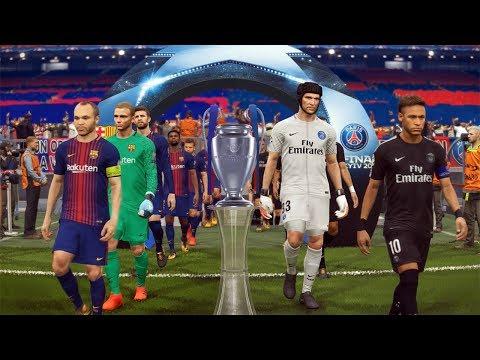 BARCELONA VS PSG, FINAL DA CHAMPIONS LEAGUE !!! - PES 2018 - MASTER LEAGUE #18