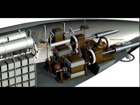 Submarino de isaac peral el interior de la nave parte for Interior submarino