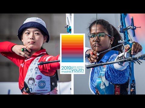 Sonoda Waka v Bari Komalika  recurve cadet women gold | World Archery Youth Championships 2019