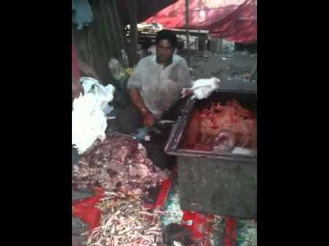 Jhatka or Chatka Butcher Gazipur Delhi India