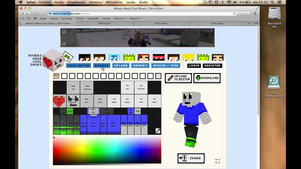 How To Change My Minecraft Skin Mac And Windows YouTube - Minecraft skins fur mac