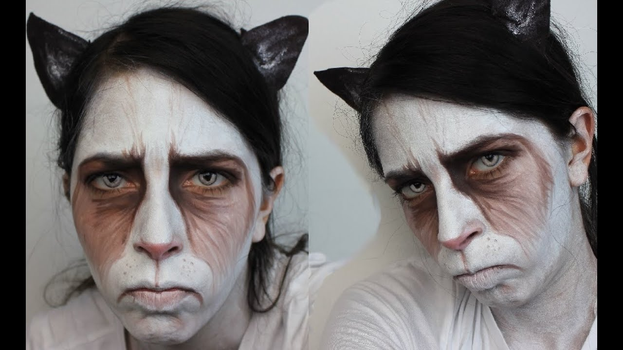 Halloween Makeup: Grumpy Cat - YouTube