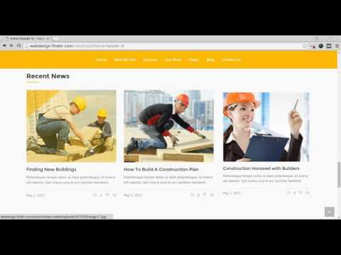 How to create a construction company website
