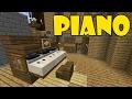 How To Make PIANO   Minecraft PE (Pocket Edition) MCPE