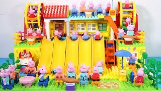 Peppa Pig Lego House Creations Toys - Lego House With Water Slide Toys For Kids #11