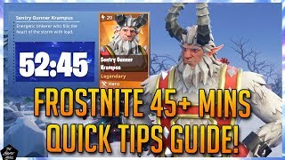 FORTNITE STW: FROSTNITE 45+ MINS QUICK TIPS STRATEGY GUIDE!
