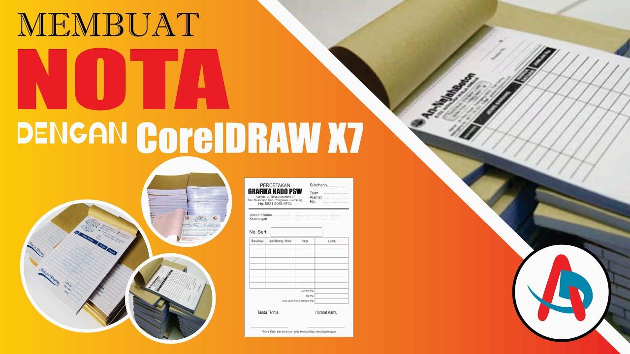 TUTORIAL MUDAH MEMBUAT DESAIN NOTA   CorelDRAW X7   Nota