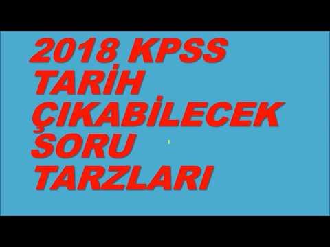 2018 KPSS YKS TARİH Çıkabilecek Soru Tarzları Çözümlü