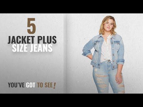 Top 10 Jacket Plus Size Jeans [2018]: Celebrity Pink Jeans Women's Plus Size Stretch Denim Jacket,