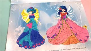 Đồ chơi bé gái dán hình và tô màu đầm công chúa lấp lánh cùng chị Chim Xinh - Toys for Kids