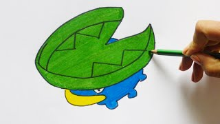 Dibujando y pintando a Lotad (pokemon) - Drawing and painting to Lotad
