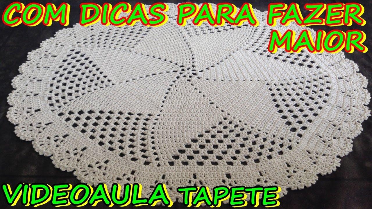 Tapete De Sala Em Barbante Tapete Redondo Croche Sala Barbante Com