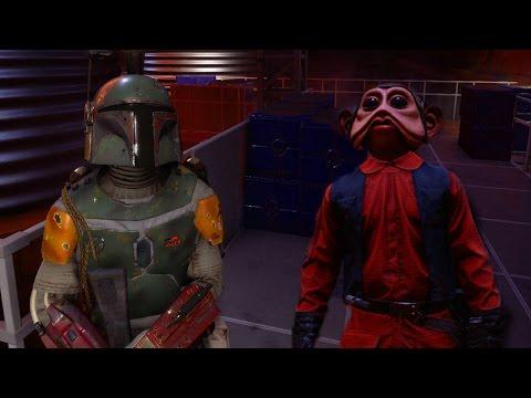 Star Wars Battlefront: Boba Fett vs Nien Nunb  1v1