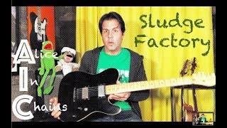 Guitar Lesson: How To Play Sludge Factory by Alice In Chains
