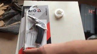 Воздушный пистолет YATO. Распаковка, обзор, испытания Air gun YATO. Unboxing, review, test