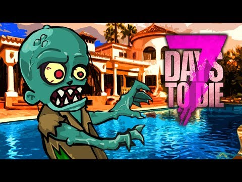 BEACH SIDE MANSION (7 Days To Die - War of the Walkers Mod)(Ep.26)