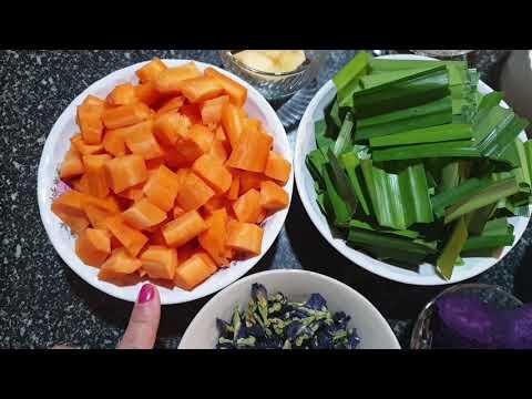 Cách nấu chè ỉ bằng màu sắc thiên nhiên