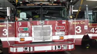 Chicago Fire Department Truck 3 Engine 42 On A Run