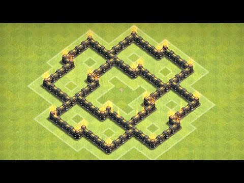 Clash Of Clans - Epic Town Hall 5 Farming Base (Alcestis)  Speed Build!