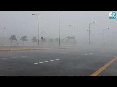 Проливной дождь и ураган в Абу-Даби (ОАЭ), ноябрь 2019