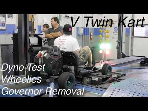 V Twin Go Kart Governor Removal, Dyno, & Wheelies!
