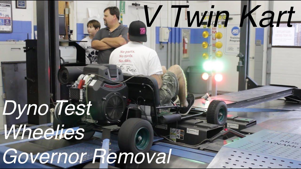 V Twin Go Kart Governor Removal, Dyno, & Wheelies!