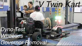 V Twin Go Kart Governor Removal, Dyno, & Wheelies! thumbnail