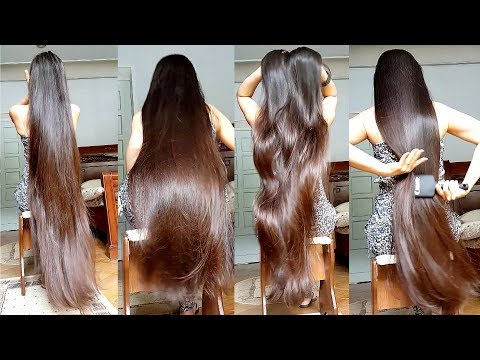 6 Minutes Of Gohar's Doing Everything With Her Super Silky Long Hair [ASMR]