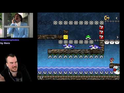 Barb plays Claustrophobia, amazing 1 screen Kaizo challenge hack: Part 1