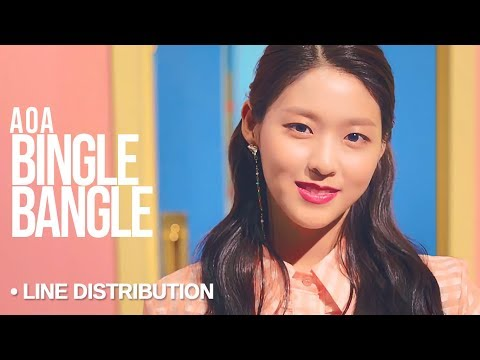 AOA「Bingle Bangle」Line Distribution
