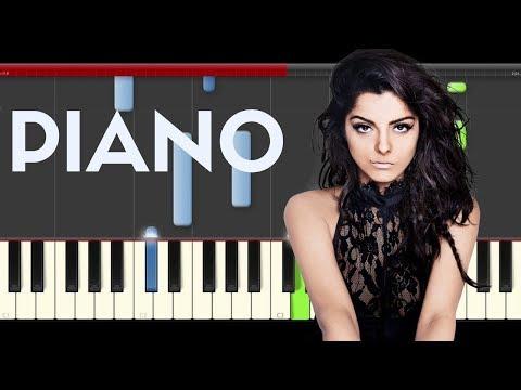 Bebe Rexha Bad Bitch Dolla Sing piano midi tutorial sheet partitura cover app karaoke