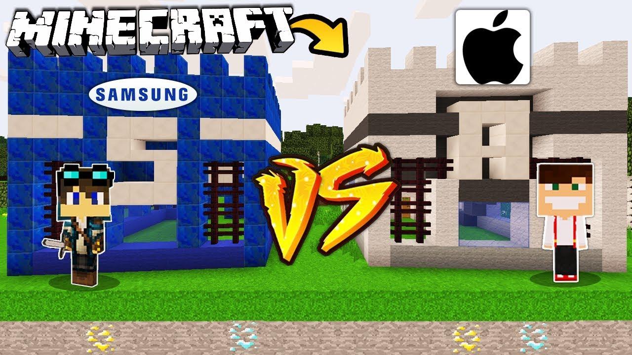 Zamek Samsung Vs Zamek Apple W Minecraft Youtube